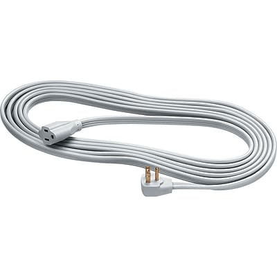 Fellowes® Indoor 3-Prong Heavy-Duty Extension Cords, 15-ft., Grey