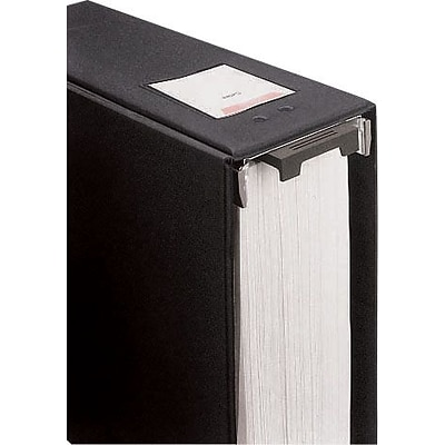 Wilson Jones® Large Capacity Hanging Vinyl Binder, 2/650 Sheet Capacity, Black