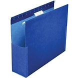 Pendaflex SureHook Reinforced Box Bottom Hanging File Folder, 1/5-Cut Tab, Letter Size, Blue, 25/Box