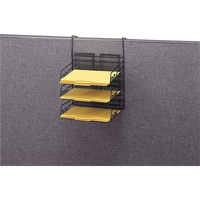 Safco® Panelmate® Heavy-Duty Off Surface Organizers, Triple Tray