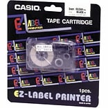 Casio Labeler Tape, XR24WES, Black on White, 24mm x 26 (XR24WES)