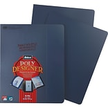 GBC® Designer Premium Plus Presentation Back Covers; Navy, 25/Box