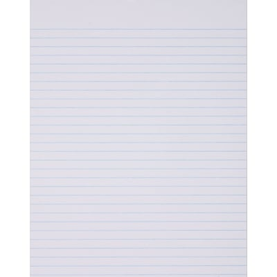 Ampad® Glue Top Writing Pad, 8.5 x 11, White, Wide Rule, 50 sheets per pad, 12 pads per pack (21-162)