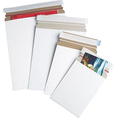 9-3/4 X 12 1/4, Self-Seal Flat Mailers, White, 25/Case (RM5SS25P)