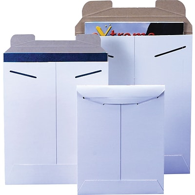StayFlat White Mailers, 11 x 13-1/2,  100/Case