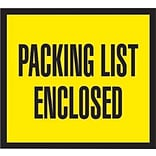 Packing List Envelopes, 4-1/2 x 5-1/2, Yellow Full Face Packing List Enclosed, 1000/Case