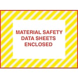 Packing List Envelopes, 4-1/2 x 6, Yellow Striped Full Face M.S.D.S. Enclosed, 1000/Case