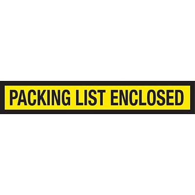 Packing List Envelopes 6-3/4 x 5, Yellow Panel Face Packing List Enclosed, 1000/Case