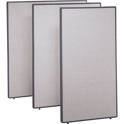 Bush Business ProPanels 66H x 48W Panel, Light Gray/Slate