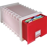 Storex Letter Size Ruby Red Poly Storage Drawer