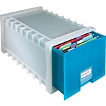 Storex Letter Size Aqua Poly Storage Drawer