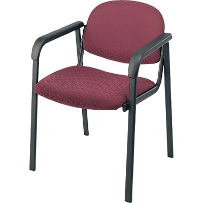 Office Star & trade; Guest Chair with Steel Frame; Cabernet