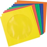 CD/DVD Envelopes, Assorted Colors, 5 X 5, 50/PackE