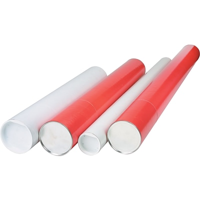 Telescoping Mailing Tubes, 3 x 30, Red