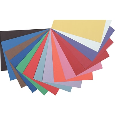 Pacon Riverside Construction Paper 18 x 12, Assorted, 50 Sheets (103638)