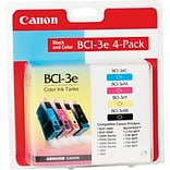 Canon® BCI-3E Inkjet Cartridges Multi-pack (4 cart per pack); 1 ea of Black, Cyan, Magenta, Yellow