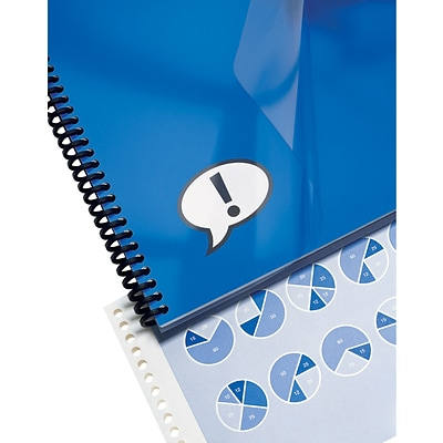 GBC® IMPACT™ Design View Frost Binding Cover, 25/Pack, 8-1/2 x 11