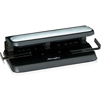 Swingline® Easy Touch® Heavy Duty 2-7 Hole Punch, Adjustable Centers, 32 Sheet Capacity, Black/Gray (A7074300)