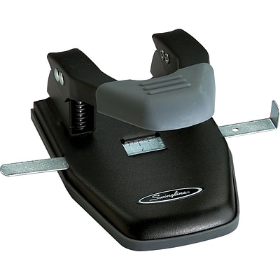 Swingline® Comfort Handle 2-Hole Punch, 50% Easier, 1/4 Hole Size, 28 Sheets