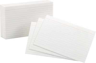"Quill Brand® 5"" x 8"" Line Ruled White Index Cards, 100/Pack (51016)"