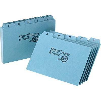 Oxford® 4 x 6 Alphabetical Pressboard Indexed Tab Guide Sets