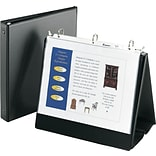 Avery® Round 3-Ring Easel Binder; 1, Black (12880)