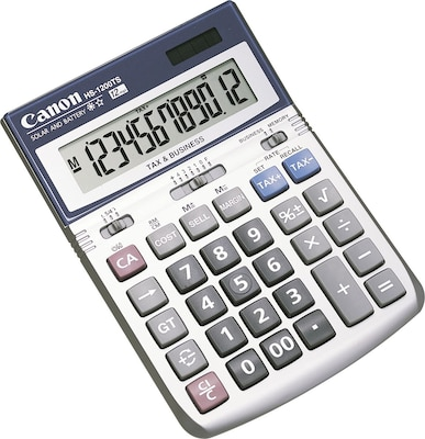 Canon® 7438A023AA Hand-Held Calculators, 12-Digit Angled Display (HS-1200TS)