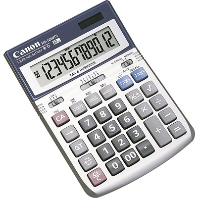 Canon® Hand-Held Calculators, 12-Digit Angled Display