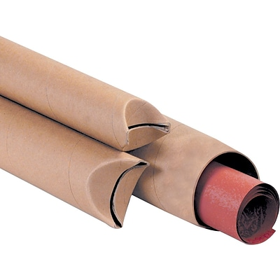 Kraft Crimped End Mailing Tubes, 2 x 12, 50/Case