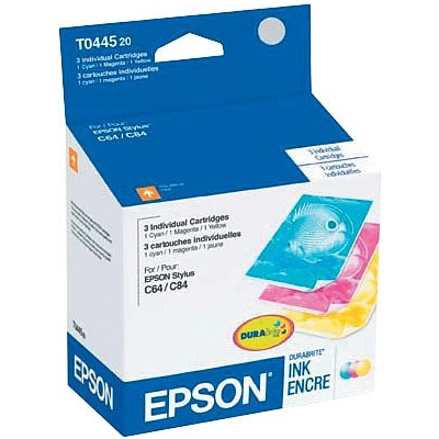 EPSON® T0444 T0443 T0442 Tri-Color Ink Cartridges Multi-pack (3 cart per pack)