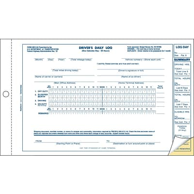 Rediform® Delivery and Receiving Forms, Drivers Daily Log Carbonless Duplicate Book