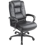 High-Back Leather Executive Chair; Black