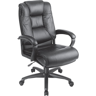 Office Star™ High-Back Leather Executive Chair, Black