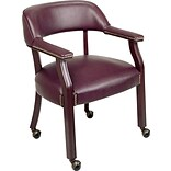 Office Star Burgundy Traditional Guest Chair (with casters)