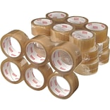 Natural Rubber Packaging Tape; Clear, 1.89 x 109.4 yds, 36 Rolls