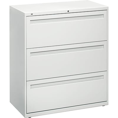 HON® Brigade? 800 19 1/4D 3 Drawer Lateral File, Black