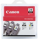 Canon® BCI-24 Black(2) Color(1) Ink Cartridges Multi-pack (3 cart per pack)