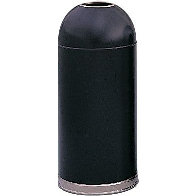 Safco® 15 Gallon Recycled Dome Receptacles with Open Top, Black