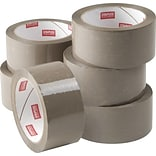 Natural Rubber Packing Tape, 1.89 x 54.7yds, Tan, 6/Pack (11649-CC)