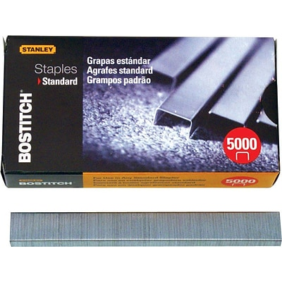 Bostitch® Standard Staples, 1/2Wx1/4L, 5,000