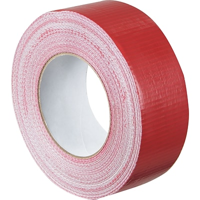Colored Duct Tape, Red, 2 x 60 yards, 3/Pack