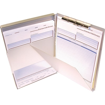 Adams® Aluminum Form Holders with Storage Compartment, 8-1/2x12, Side Opening