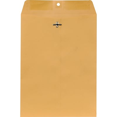 Brown Kraft Clasp Envelopes 9 x 12, 250/Box