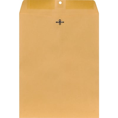 Clasp Closure Kraft Envelopes, 10 x 13, Brown, 100/Box (187039/19272)