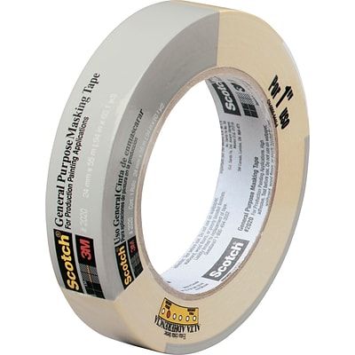 Scotch® Commercial-Grade Masking Tape for Production Painting, 0.94 x 60 yds. (2020-24A-BK)