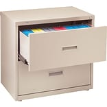 Quill Brand® Lateral File Cabinets; 30 Wide, 2-Drawer, Putty