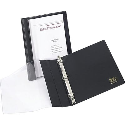 Avery See-Thru Binder with 1/2 Round Ring, Black (10802)