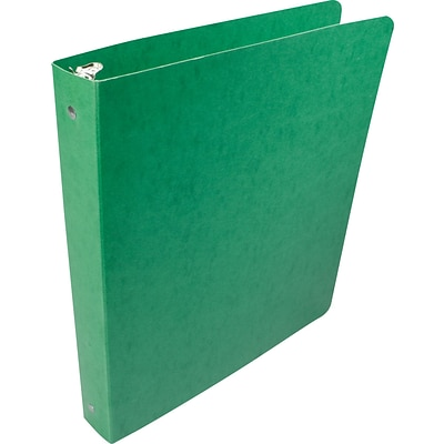 Acco® Recycled PRESSTEX 1 Capacity Round Ring Binder, Dark Green