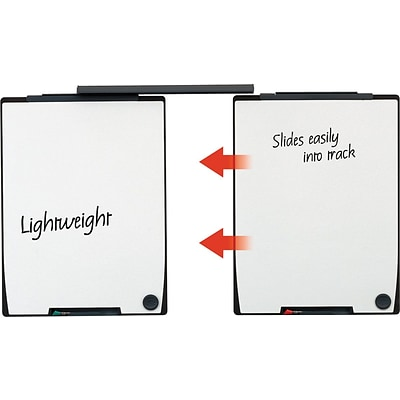 Quartet Motion® Board and Track Set, 2 Whiteboards, 30 Mounting Track