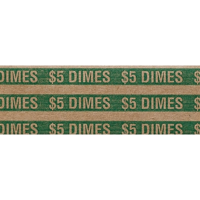 Dimes Coin Wrappers, 20,000/Carton